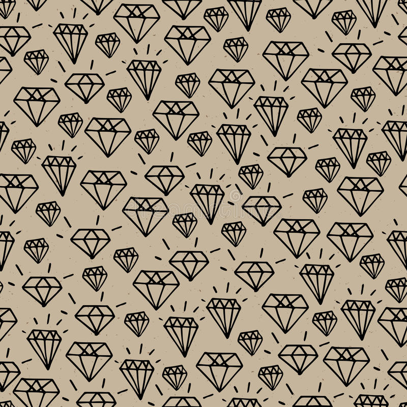 Hipsterdiamantmodell royaltyfri illustrationer