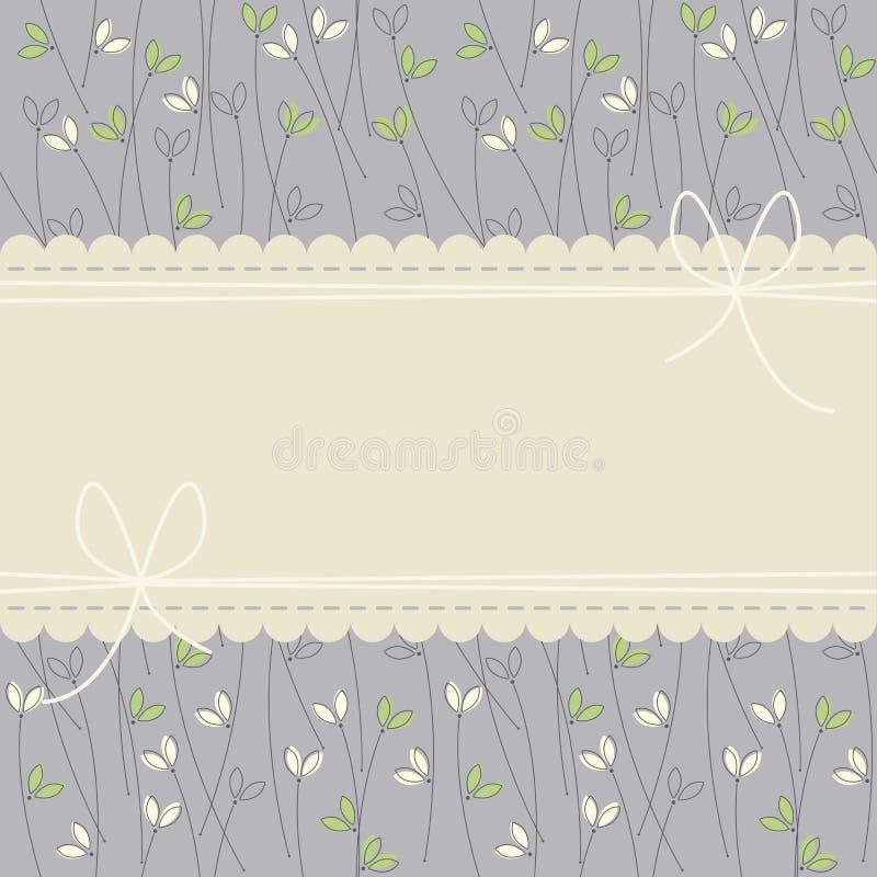 Hipsteren snör åt ramen med gräs på purpurfärgad bakgrund royaltyfri illustrationer