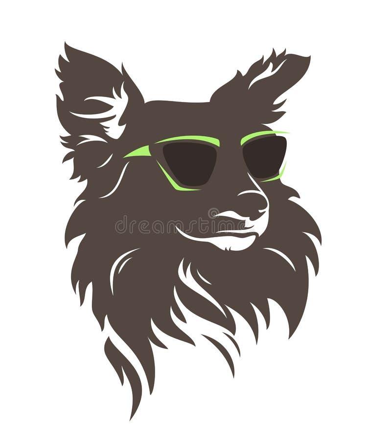 Hipsterhund royaltyfri illustrationer