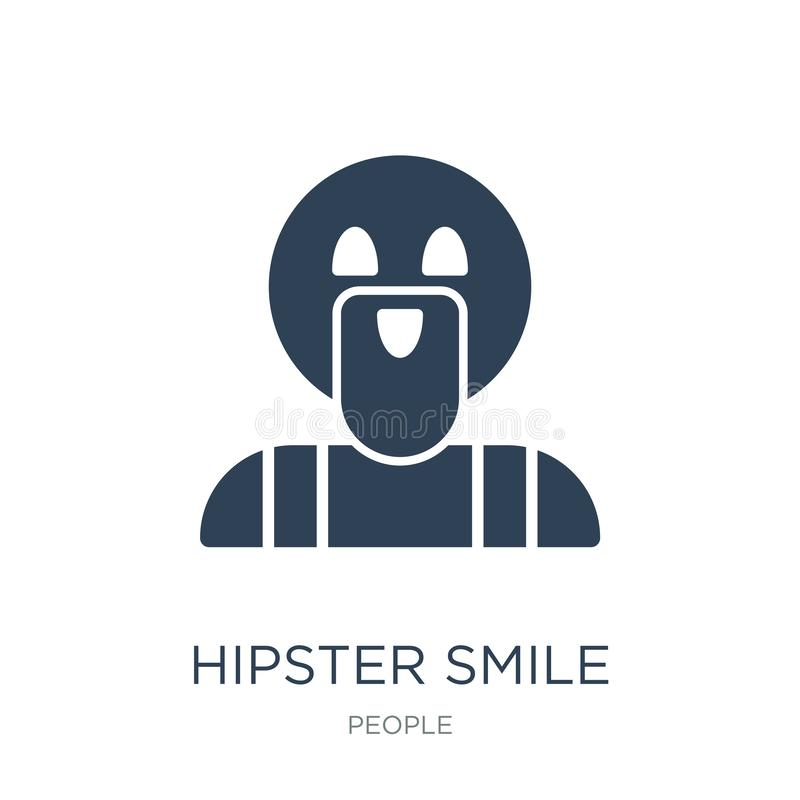 hipsterleendesymbol i moderiktig designstil hipsterleendesymbol som isoleras på vit bakgrund enkel symbol för hipsterleendevektor vektor illustrationer