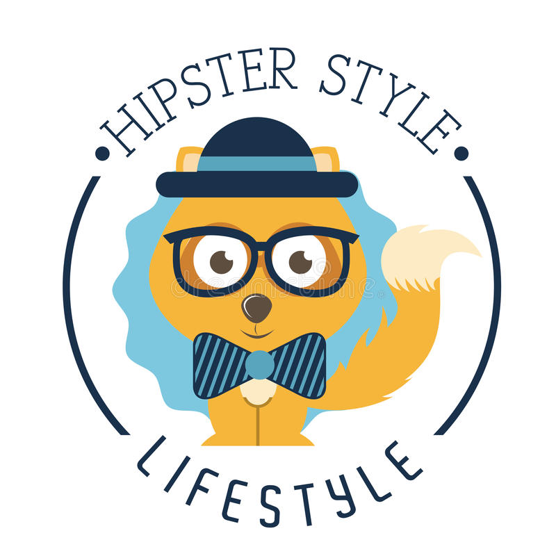 Hipsterlivsstil stock illustrationer