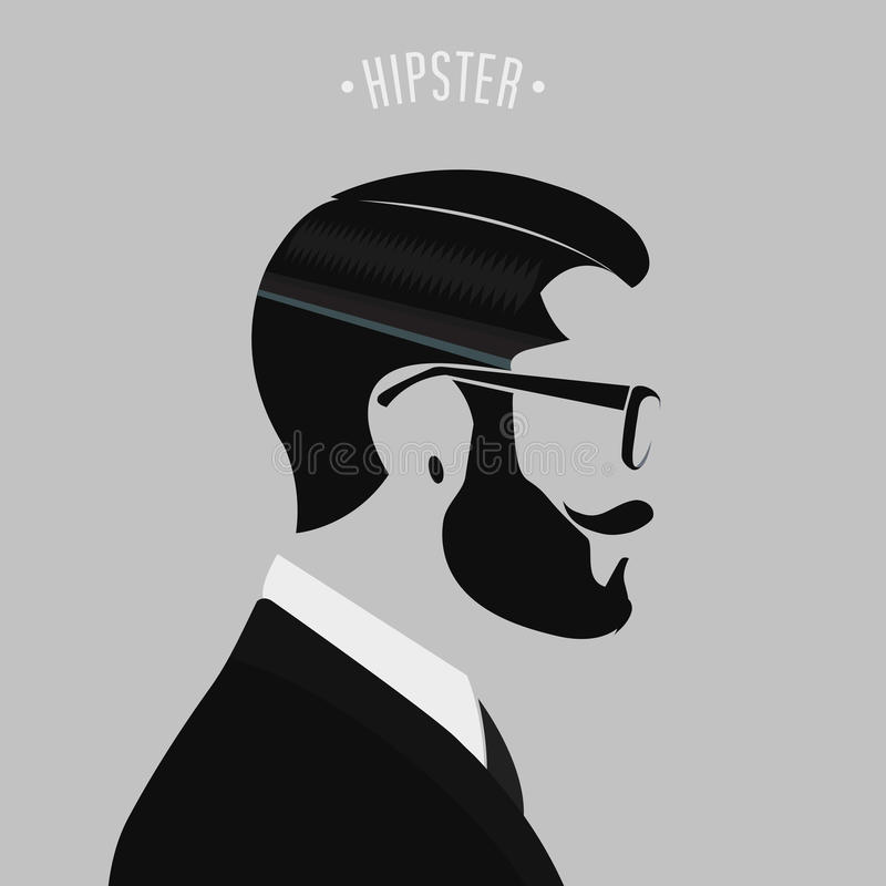 Hipstermanmode stock illustrationer