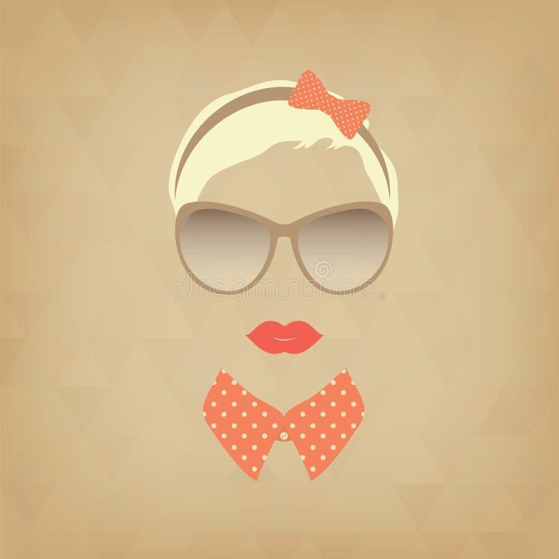 Hipstermeisje vector illustratie