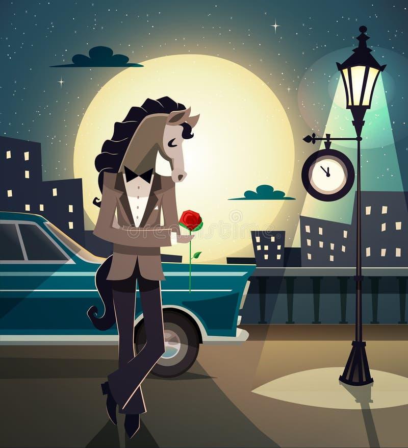 Hipsterromantikerdjur stock illustrationer