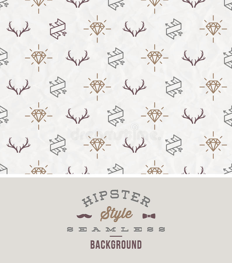 Hipsters naadloze achtergrond royalty-vrije illustratie