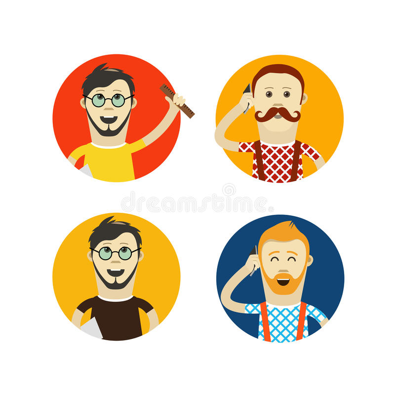 hipsters vector design illustration royalty free illustration