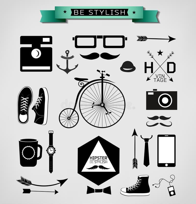 Hipsterstijl royalty-vrije illustratie