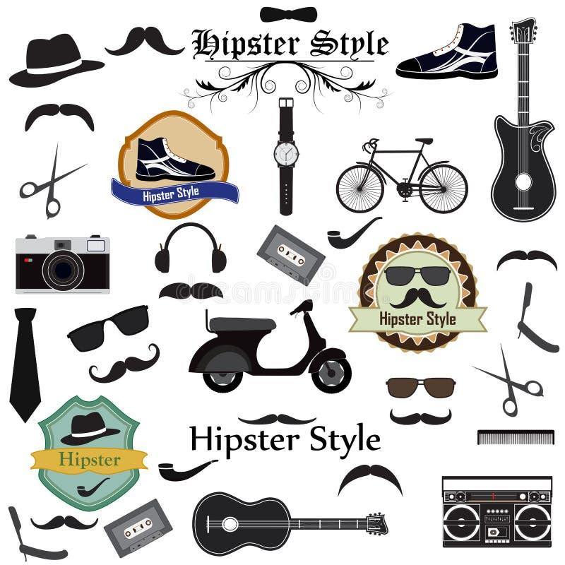 Hipsterstijl stock illustratie