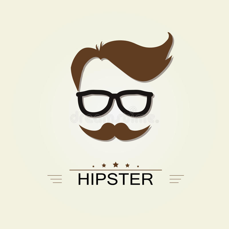 Hipstersymbol stock illustrationer