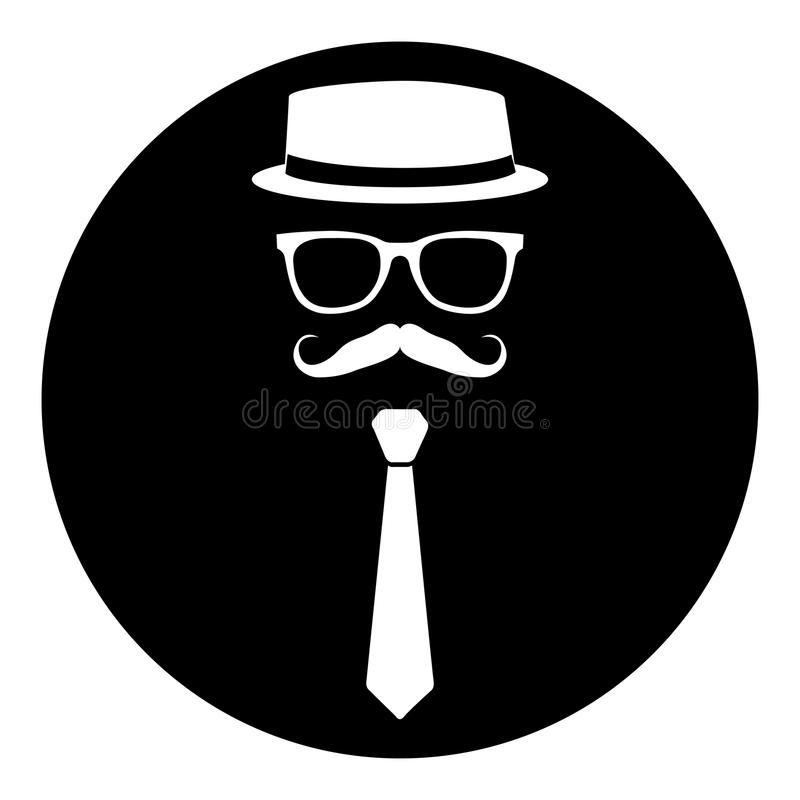 Hipstersymbolsstämpel stock illustrationer