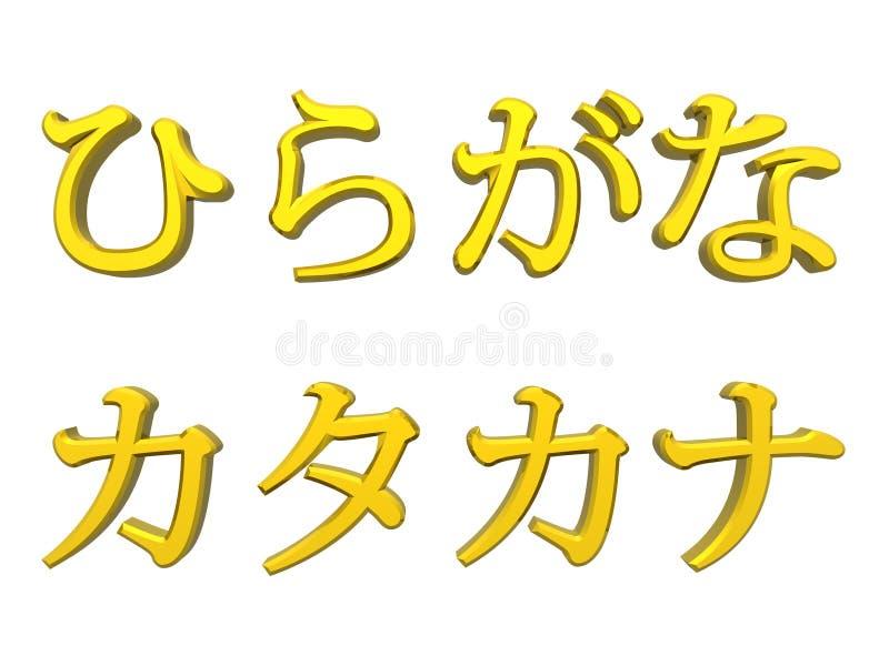 Hiragana And Katakana Royalty Free Stock Image