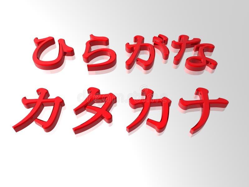 Hiragana y katakanas ilustración del vector