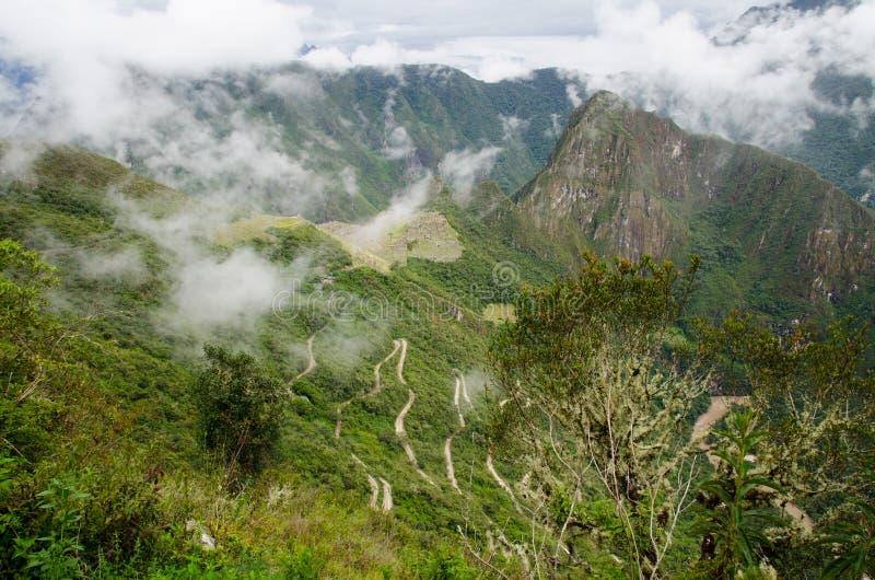 Hiram Bingham Datenbahn zu Machu Picchu, Peru stockfotos