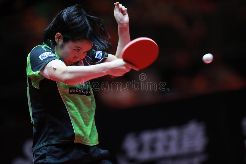 HIRANO Miu backhand zdjęcie stock