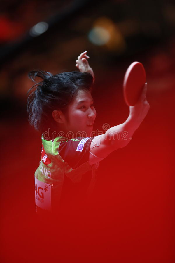 HIRANO Miu backhand obrazy royalty free