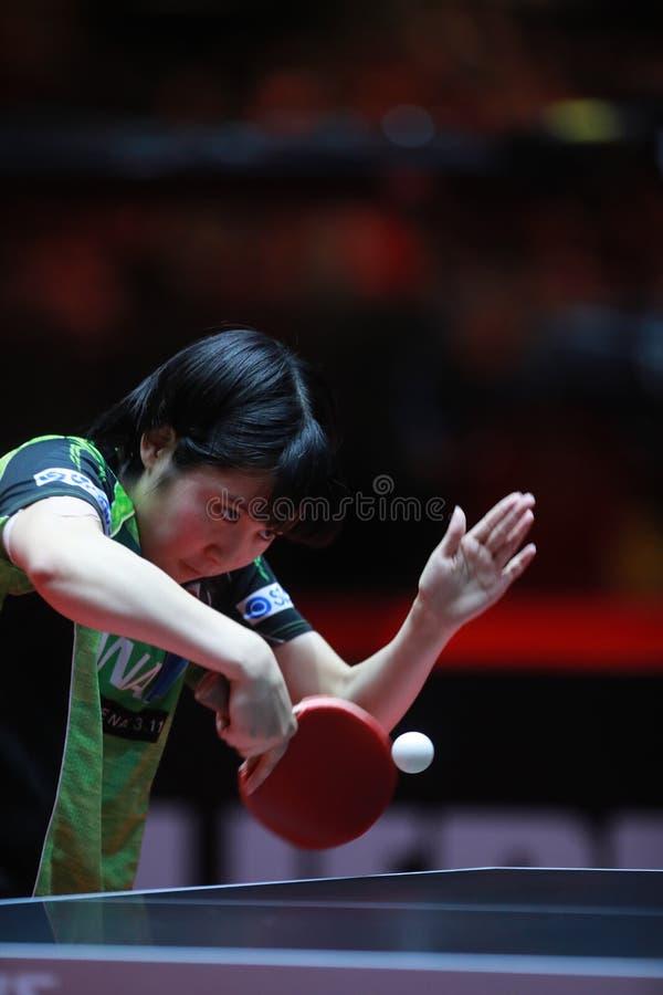 HIRANO Miu backhand zdjęcia stock