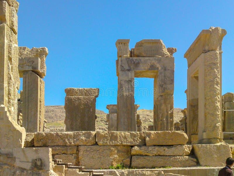 Hiraz, PERSEPOLIS, IRAN, ruiny ceremonialny kapitał Perski Empirowy Achaemenid imperium obraz stock