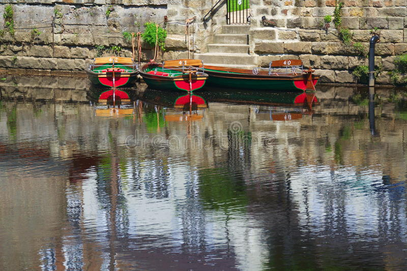 Download Hire Boats On River Surface With Reflections Stock Photo - Image: 25157906