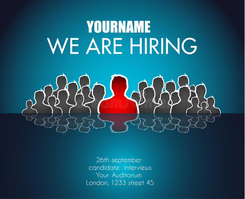 We Are Hiring background for your hiring posters and flyer. royalty free illustration