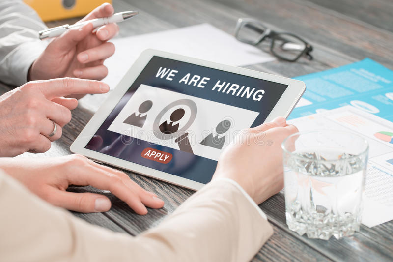 download we are hiring career headhunting job concept stock photo image of office human