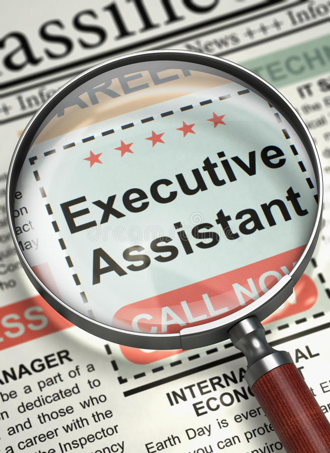 Download We Are Hiring Executive Assistant. 3D. Stock Photo   Image Of  Career,  Executive Assistant