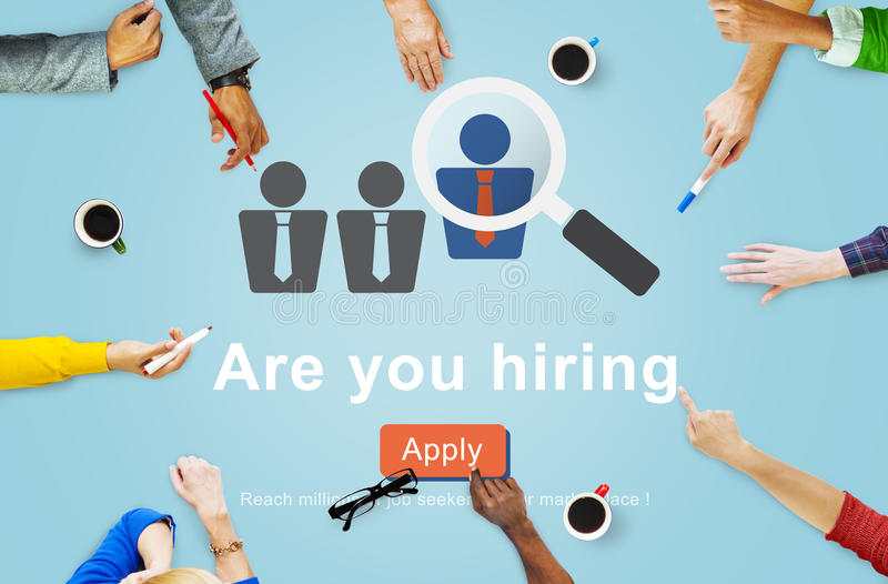 Hiring Human Resources Job Career Occupation Concept royalty free stock photos