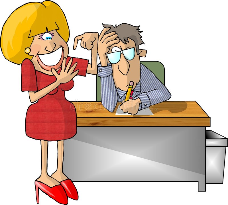 Download The Hiring Interview stock illustration. Image of cartoon - 44631