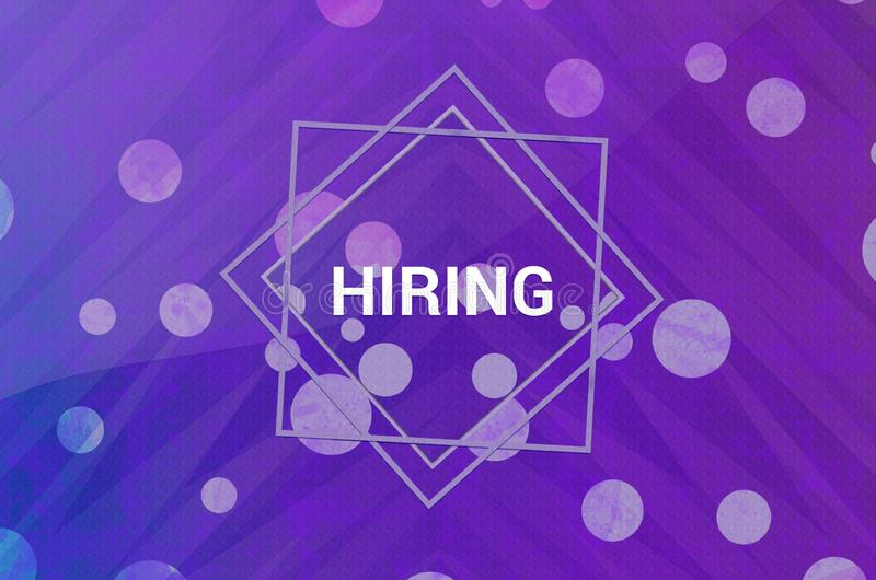 Hiring isolated on abstract digital banner purple background 向量例证