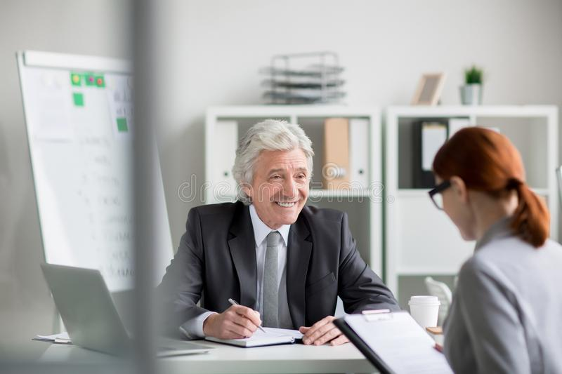 Hiring new manager stock image