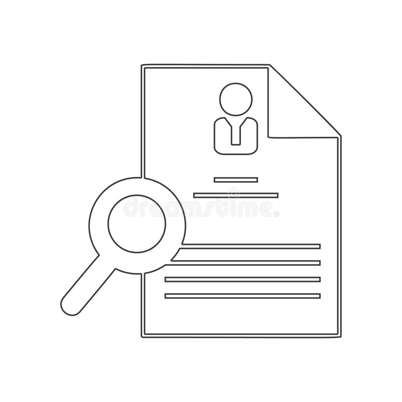 Hiring and recruiting, resume icon. Element of HR for mobile concept and web apps icon. Outline, thin line icon for website design vector illustration