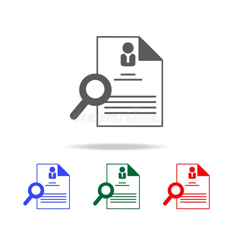 Hiring And Recruiting Resume Icon Elements Of Human Resource In