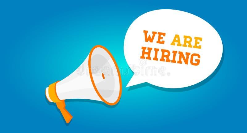 We are hiring vacancy open recruitment stock illustration