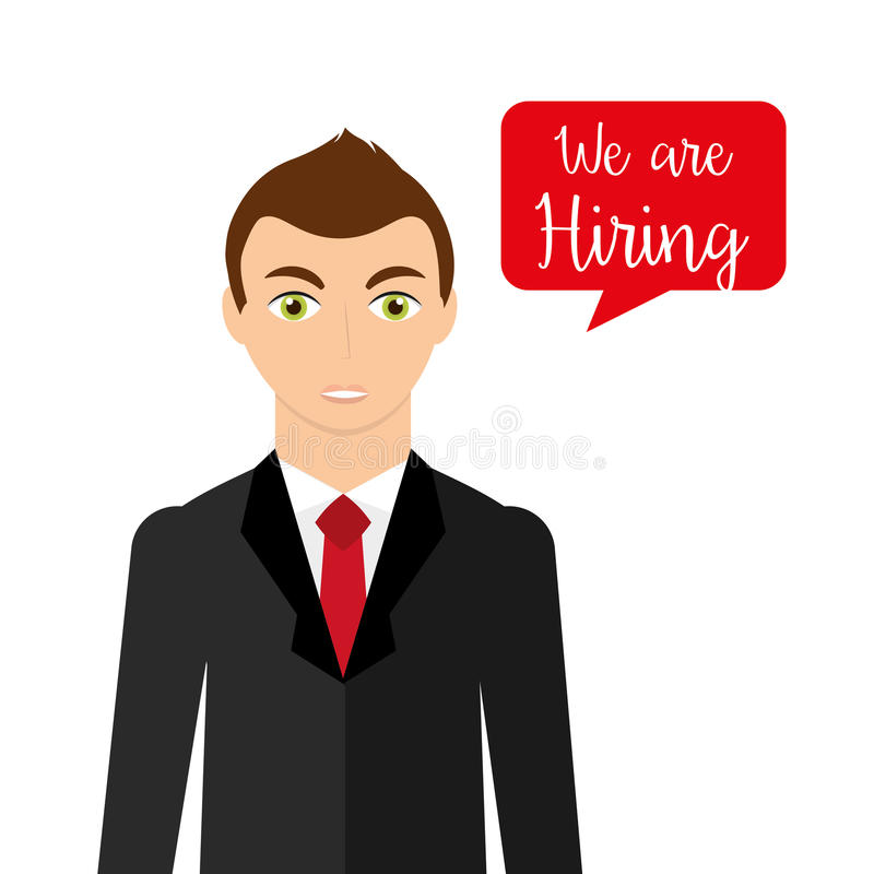 Hiring workers design stock illustration