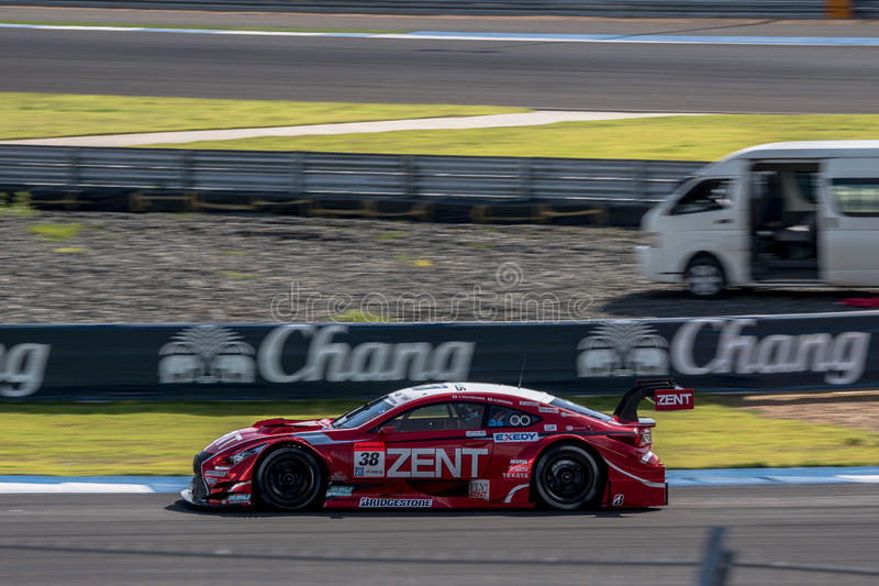 Hiroaki Ishiura van LEXUS TEAM ZENT CERUMO in GT500 Qualiflying C royalty-vrije stock fotografie