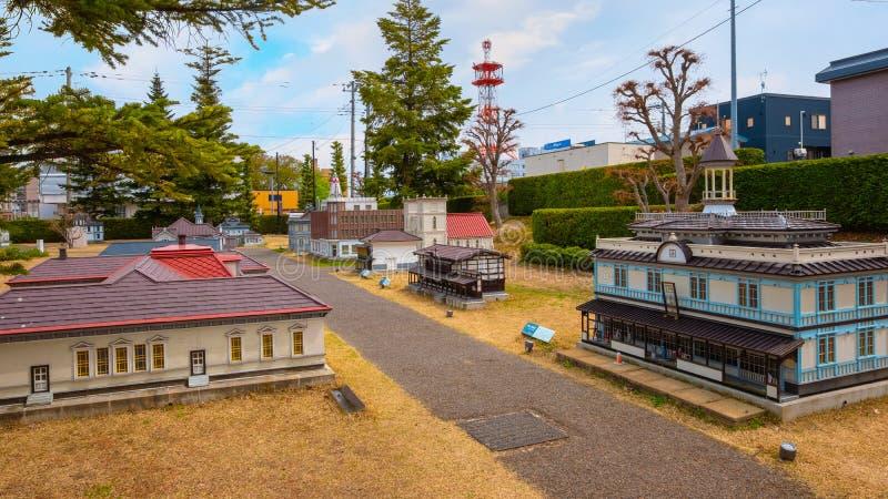 Miniature Hirosaki old town in Hirosaki, Japan royalty free stock image