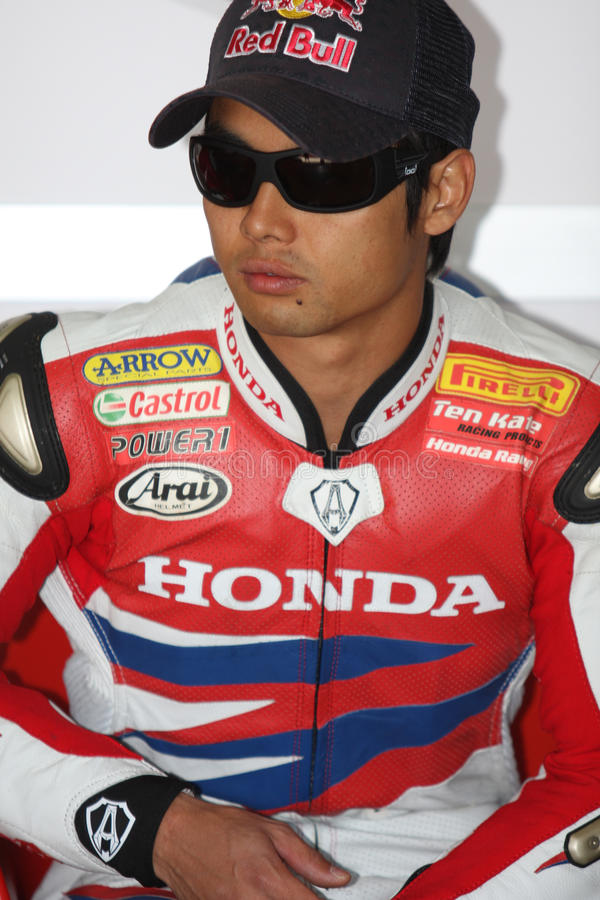 Hiroshi Aoyama - Honda CBR1000RR imagenes de archivo