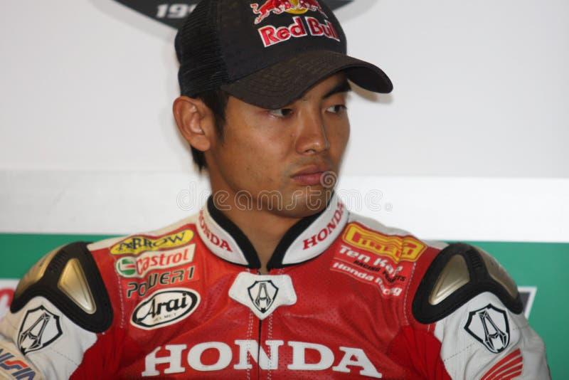 Hiroshi Aoyama - Honda CBR1000RR foto de archivo libre de regalías