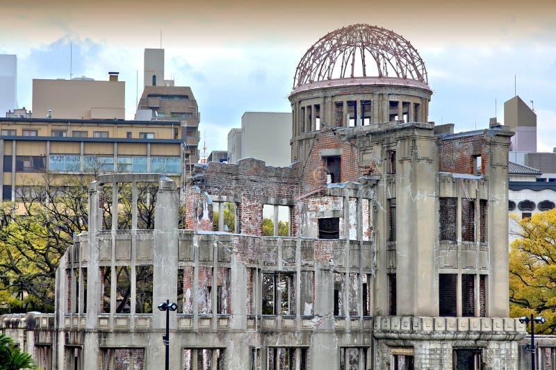 Hiroshima. City in Chugoku region of Japan (Honshu Island). Famous atomic bomb dome. HDR photo stock image