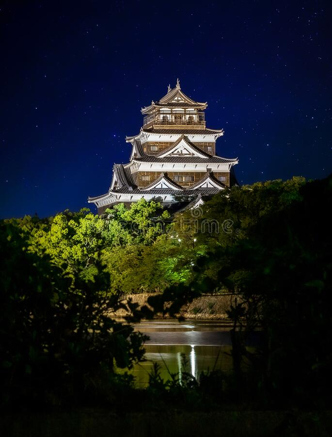 Free Hiroshima Castle Called Carp Castle Stock Photo - 182388130
