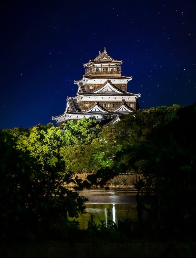 Hiroshima castle called Carp Castle stock photo