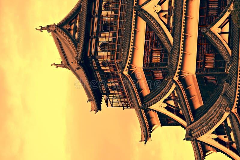 Hiroshima Castle, Japan. Hiroshima Castle at sunset - Japan royalty free stock photo