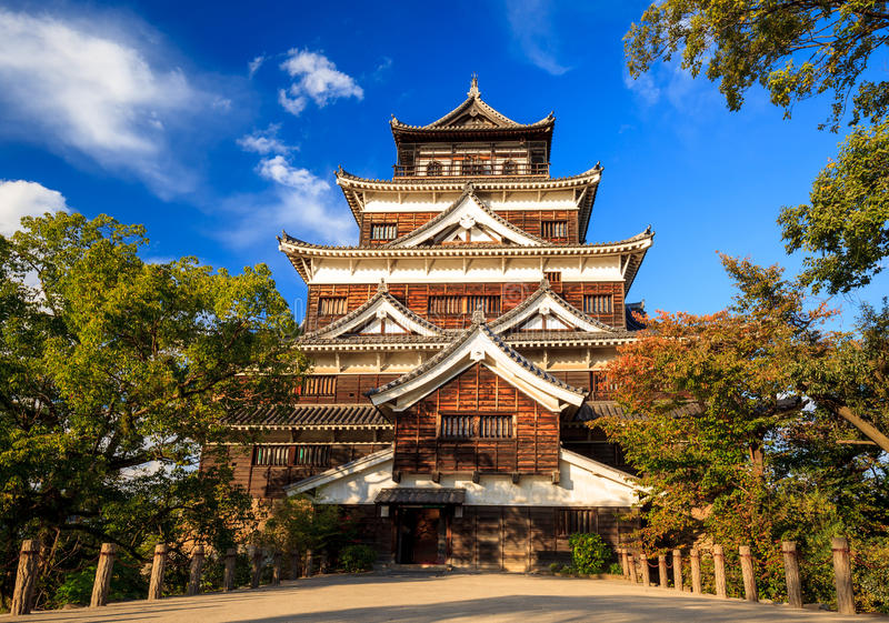 Hiroshima castle, Japan. Hiroshima castle, Hiroshima town, Japan royalty free stock photography