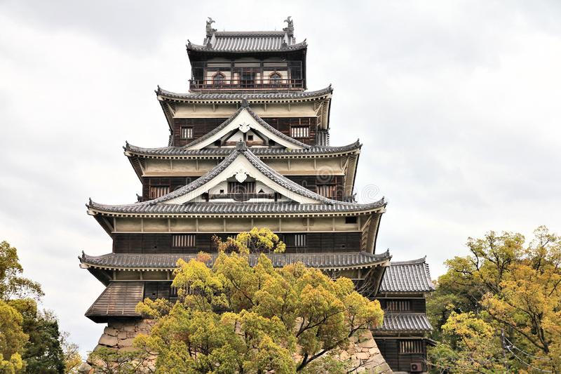 Hiroshima Castle. Landmark of Japan. Japanese architecture stock photography