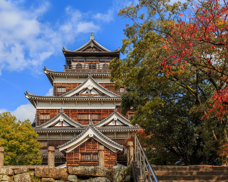 Download Hiroshima Castle stock photo. Image of japanese, attraction - 36214374