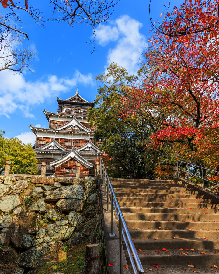Download Hiroshima Castle stock image. Image of landscape, fort - 36214395