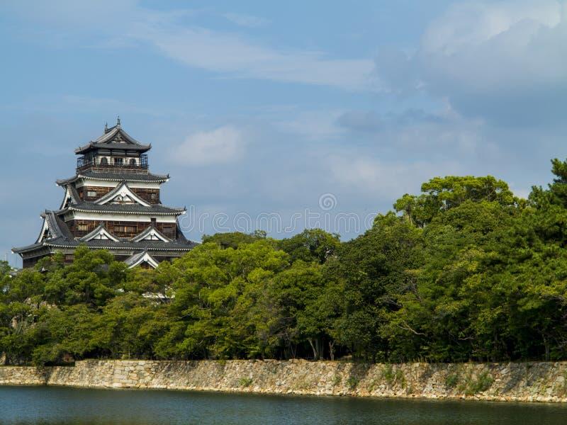 Hiroshima Castle. Traditional Japanese Castle in Hiroshima, Japan stock photo