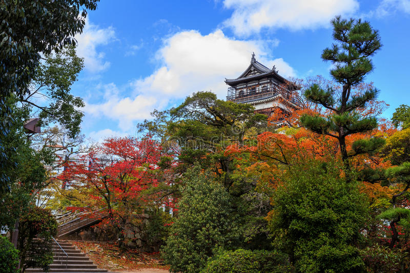 Download Hiroshima Castle stock image. Image of japanese, fall - 36151257