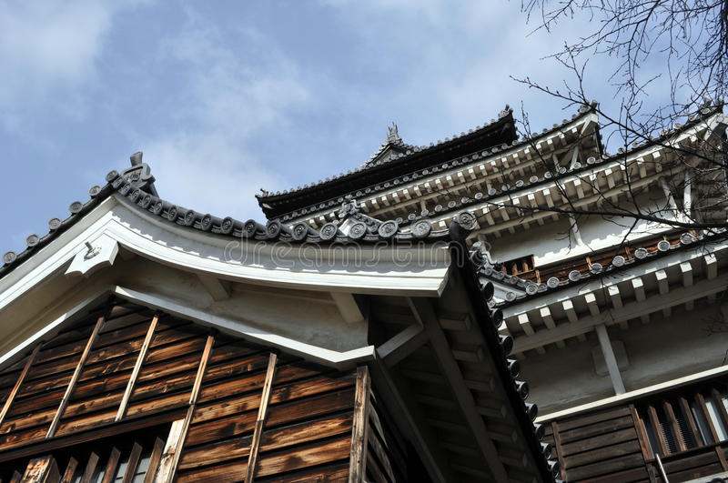 Hiroshima Castle. A view of the Hiroshima Castle Keep royalty free stock photography