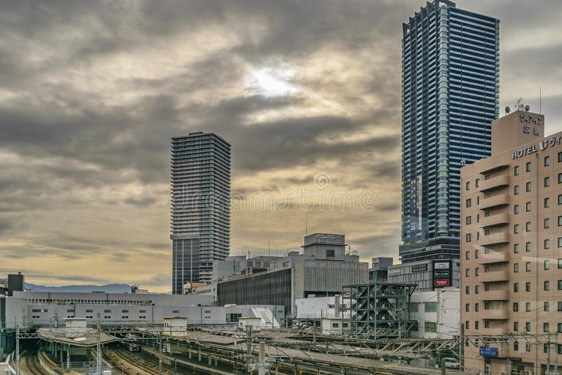 Hiroshima Cityscape, Japan royalty free stock images