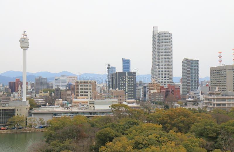 Hiroshima downtown cityscape Japan royalty free stock image